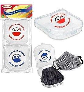 Porta Máscaras Limpa / Suja Kit C/02 Unidades