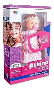 Boneca Bebe Athina Meus Primeiros Sons Milk Brinquedos