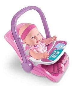 Boneca Infantil Baby Sapekinha Bebe Conforto Cadeirinha Milk