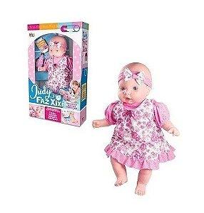 Boneca Grande Judy Faz Xixi Com Mamadeira E Fraldinha*