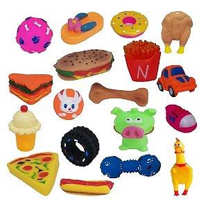 Kit 20 Mordedores Brinquedo Diversos P/ Cachorros Pequenos