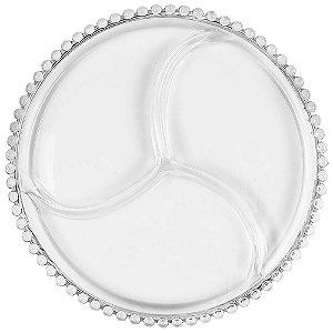 Petisqueira Em Cristal 3x24cm Wolff Pearl