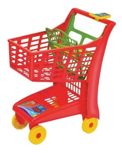 Carrinho De Mercado Infantil Compras Market 55 Cm Altura