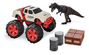 Carrinho Dinossauro Rex Com Pick-up Dino Runners Usual