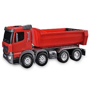 Caminhão Basculante Gigante Caçamba Brincar Na Terra Com Pá