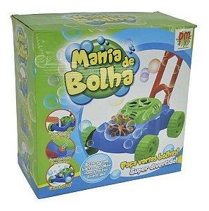Lançador Maquina Carrinho Mania De Bolha De Sabão Dm Toys