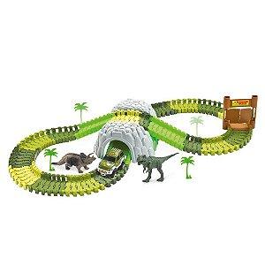 Pista Dinossauro Track com Túnel e Acessórios 109 Peças