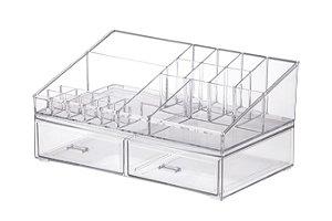 Organizador De Maquiagem Cosméticos 32x18,5x15,5 cm - Transparente