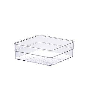 Organizador Empilhável Modular Acrílico C/2 15 x 15 x 5,2cm transparente