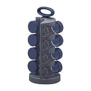Organizador De Temperos Rotativo Com 8 Peças - Paramount Azul