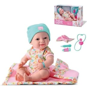 Boneca Bebê Reborn Vinil Maternidade C/ Kit Médico Brinquedo
