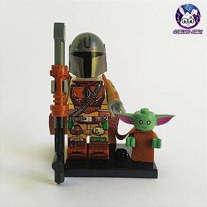 Lego Mandalorian + Grogu (Baby Yoda) Bloco de Montar Star Wars  - O Mandaloriano