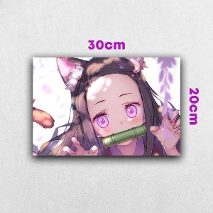 Placa em MDF Nezuko - Anime Demon Slayer