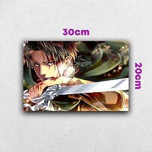 Placa em MDF Levi Ackerman - Anime Attack on Titan