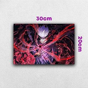 Placa em MDF Gojo Satoru - Anime Jujutsu Kaisen