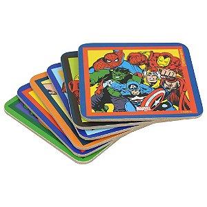 Kit Porta Copos Marvel Comics 6pçs