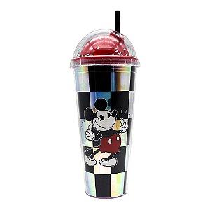 Copo canudo holográfico Mickey Mouse