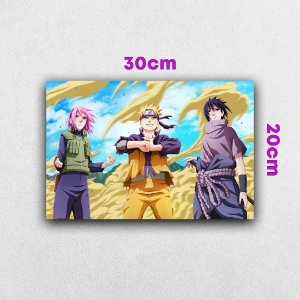 Placa em MDF Time 7 - Anime Naruto Shippuden