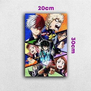 Placa em MDF My Hero Team - Anime Boku no Hero Academia