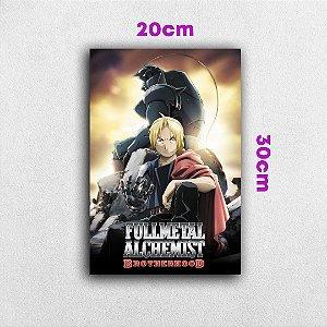 Placa em MDF Fullmetal Alchemist Brotherhood