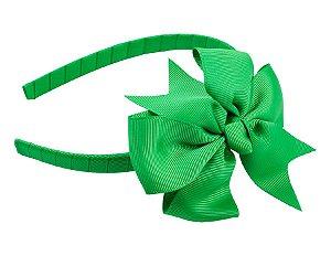 Tiara de gorgurão verde