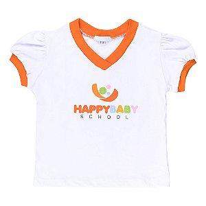 blusa manga fofa Happy Baby School