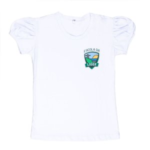 blusa manga fofa Escola da lagoa