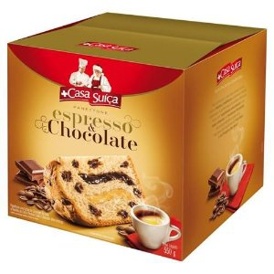 Panetone Casa Suiça Espresso & Chocolate 550g
