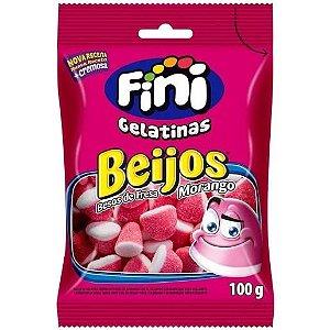 BEIJOS DE MORANGO 100G FINI (CAIXA COM 12 UNIDADES)