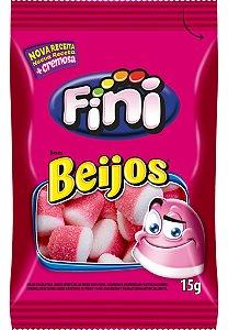 BEIJOS DE MORANGO 15G FINI (CAIXA COM 12 UNIDADES)