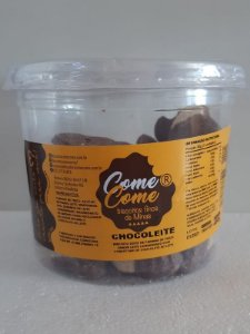BISCOITO CHOCOLEITE COM MEIA COBERTURA DE CHOCOLATE COME COME 450 GR