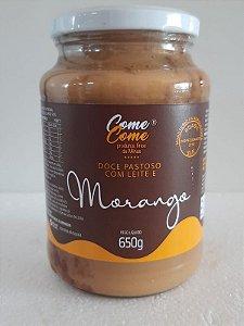 DOCE DE LEITE PASTOSO COM MORANGO COME COME 650 GR