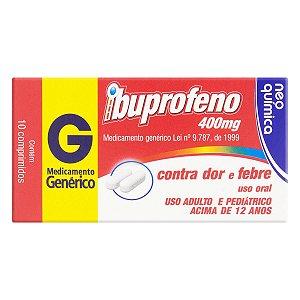 Ibuprofeno Comprimido Neo Química 400mg, caixa com 10 comprimidos
