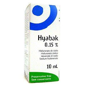 Hyabak 0,15% Solução Oftálmica - Lágrima Artificial Com 10 Ml