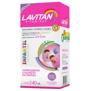 Lavitan Solução Oral Infantil Sabor Tutti-Frutti