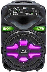 CAIXA AMPLIFICADA COM BATERIA WAVE8 250W BT/SD/USB - PROBASS