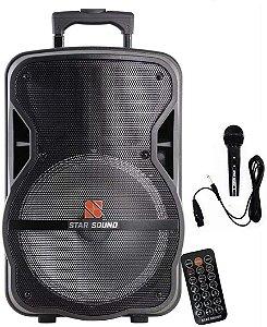 Caixa Ativa Com Bateria BT/FM/SD/USB STAR SOUND SS 120 - STANER
