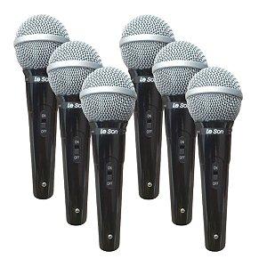 Kit 6 Microfone Leson SM-50 VK Vocal Cardióide - Leson