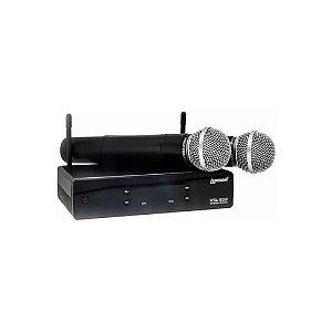 Microfone Sem Fio com 2 bastões UHF XSL-502-LEXSEN