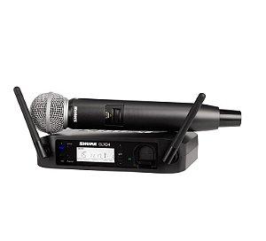 Microfone Sem Fio De Mao Digital UHF GLXD24BR/SM-58 - SHURE