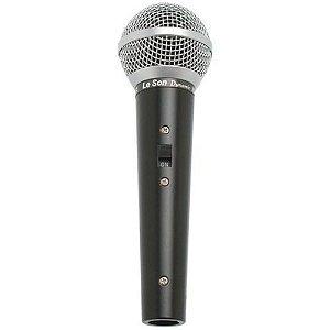 Microfone Leson SM50 VK Vocal Profissional Com Cabo P10