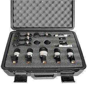 Kit Com 7 Microfones Para Bateria Com Maleta MXDS7 - YOGA