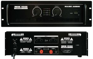 Amplificador De Potencia Com 2 Canais MK8500 - MARK AUDIO