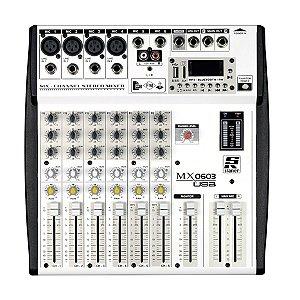 Mesa De Som Analógica Com 06 Canais MX0603 USB - STANNER