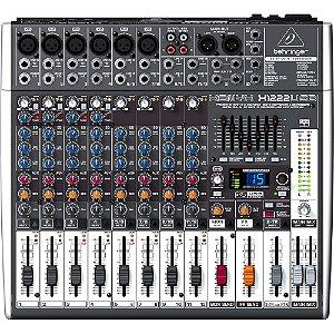 Mesa De Som Analógica Com 12 Canais XENYX X1222 USB - BEHRINGER