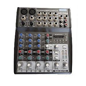 Mesa De Som Analogica Com 8 Canais 1002 USB - CSR
