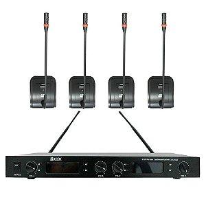 4 Microfones Sem Fio UHF Gooseneck 840B - CSR