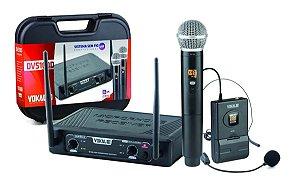 Microfone Sem Fio De Mão Headset DVS 100 DMH- VOKAL