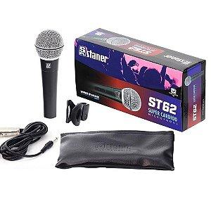Microfone Dinâmico Supercardióide Cabo 4,5m Stanner ST 62 - Staner