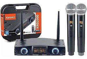 Microfone Sem Fio Karsect Krd200 Dm Duplo Mão
